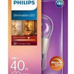 Philips 8718696525654Patite ampoule LED à baïonnette B22 Lumière chaude Compatible avec variateur d'intensité Blanc chaud 6 W de la marque Philips image 1 produit