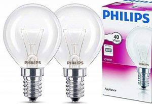 Philips Ampoule E14 40 W Four forme de goutte Diamètre 45 mm, résistantes à max. 300 °C. Lot de 2 blanc chaud de la marque Philips image 0 produit