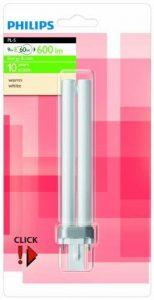 Philips Ampoule Fluocompacte Culot G23 9 Watts consommés Equivalence incandescence : 60W de la marque Philips Lighting image 0 produit
