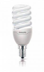 Philips Ampoule FluoCompacte Spirale Culot E14 12 Watts Consommés Équivalence Incandescence : 60W de la marque Philips Lighting image 0 produit