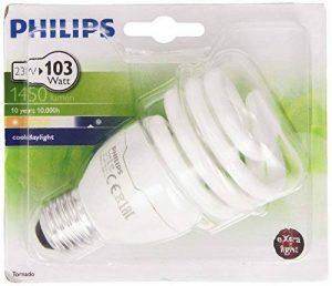 Philips Ampoule FluoCompacte Spirale Culot E27 23 Watts Consommés Équivalence Incandescence : 103W de la marque Philips Lighting image 0 produit
