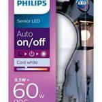 Philips Ampoule LED E27, 6,5W Équivalent 60W, Blanc Froid avec Détecteur Crépusculaire de la marque Philips Lighting image 1 produit