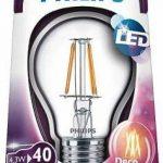 Philips Ampoule LED à Filament Verre 43W E27 Transparent 104 x 6 cm de la marque Philips Lighting image 1 produit