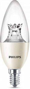 Philips Ampoule LED Flamme Culot E14, 8W équivalent 60W, Blanc Chaud 2700K, Claire, Compatible Variateur de la marque Philips Lighting image 0 produit