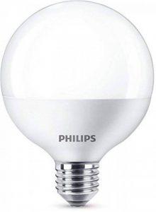 Philips Ampoule LED Globe Culot E27, 9,5W équivalent 60W, Blanc Chaud 2700K, Dépolie de la marque Philips Lighting image 0 produit