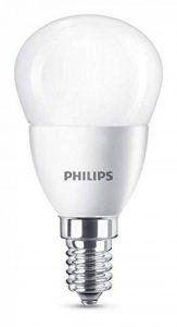 Philips Ampoule LED Sphérique Culot E14, 5,5W équivalent 40W, Non dimmable, Blanc Chaud 2700K, Dépolie de la marque Philips Lighting image 0 produit