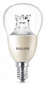 Philips Ampoule LED Sphérique Culot E14, 8W équivalent 60W, Blanc Chaud 2700K, Claire, Compatible Variateur de la marque Philips image 0 produit