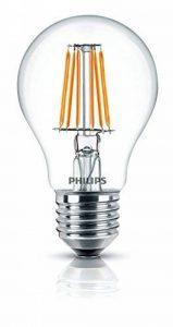 Philips Ampoule LED Standard Filament Culot E27, 7,5W équivalent 75W, Blanc Chaud 2700K, Claire de la marque Philips Lighting image 0 produit