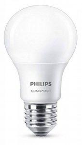 Philips Ampoule LED Standard SceneSwitch 3 ambiance, Culot E27, 8W équivalent 60W, Blanc Chaud 60W 2700K, Dépolie de la marque Philips Lighting image 0 produit