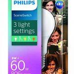 Philips Ampoule LED Standard SceneSwitch 3 ambiance, Culot E27, 8W équivalent 60W, Blanc Chaud 60W 2700K, Dépolie de la marque Philips Lighting image 1 produit