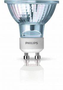 Philips Ampoules Spot halogène GU10compatible variateur d'intensité, 50W–Blanc chaud, lot de 2 de la marque Philips image 0 produit