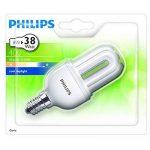 """Philips GENIE Lot de 5ampoules économie d'énergie 8W = 40W. faible, ses e14Culot à vis, lampes CFL basse consommation d'énergie, 10ans, Blanc Froid 240V Classe """"A cinq Lampes, e14 ses 8.0 wattsW de la marque Philips image 1 produit"""