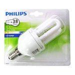 """Philips GENIE Lot de 5ampoules économie d'énergie 8W = 40W. faible, ses e14Culot à vis, lampes CFL basse consommation d'énergie, 10ans, Blanc Froid 240V Classe """"A cinq Lampes, e14 ses 8.0 wattsW de la marque Philips image 3 produit"""