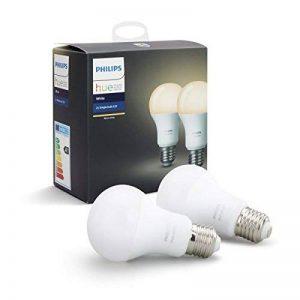 Philips Hue Ampoules Connectées Blanc E27 - Fonctionne avec Alexa, Pack de 2 de la marque Philips-Lighting image 0 produit