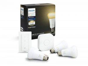 Philips Hue Kit de Démarrage White And Ambiance avec 3XE27 9,5W [Pont et Interrupteur avec Variateur Inclus] - Fonctionne avec Alexa de la marque Philips Lighting image 0 produit