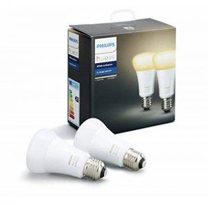 Philips Hue Pack de 2 ampoules connectées White Ambiance E27 - Fonctionne avec Alexa de la marque Philips Lighting image 0 produit