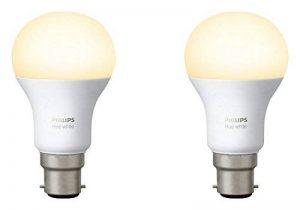 Philips Hue Pack de 2 ampoules connectées White B22 - Fonctionne avec Alexa de la marque Philips Lighting image 0 produit