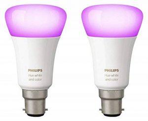 Philips Hue Pack de 2 ampoules connectées White & Color B22 - Fonctionne avec Alexa de la marque Philips Lighting image 0 produit