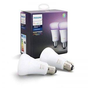 Philips Hue Pack de 2 ampoules connectées White & Color E27 - Fonctionne avec Alexa de la marque Philips Lighting image 0 produit