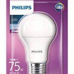 Philips LED 10W (75W) A60Culot à vis Edison E27Cool ampoule de la lumière du jour, givré, 6500K Ampoule, Synthétique, blanc, E27, 10 wattsW 240 voltsV de la marque Philips image 1 produit