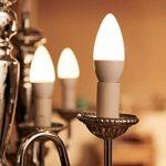 Philips Lot de 2 Ampoules LED Flamme Culot E14, 5,5W équivalent 40W, Blanc Chaud 2700K, Dépolie de la marque Philips Lighting image 1 produit