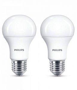 Philips Lot de 2 Ampoules LED Standard Culot E27, 13W équivalent 100W, Blanc Chaud 2700K, Dépolie de la marque Philips Lighting image 0 produit