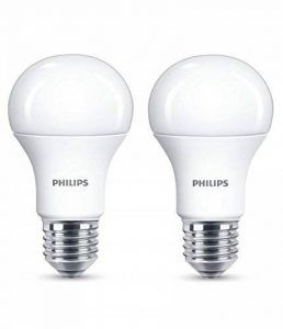 Philips Lot de 2 Ampoules LED Standard Culot E27, 13W équivalent 100W, Blanc Chaud 2700K, Dépolie de la marque Philips Lighting image 0 produit