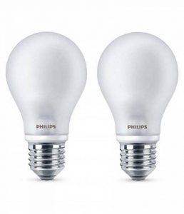 Philips Lot de 2 Ampoules LED Standard Culot E27, 4,5W équivalent 40W, Blanc Chaud 2700K, Dépolie Verre de la marque Philips Lighting image 0 produit