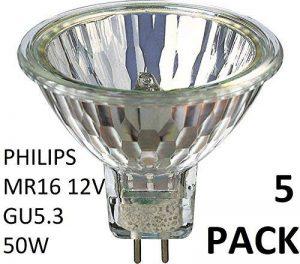 Philips Lot de 5ampoules halogènes 12V MR1650W GU5.336d Dx319p Variateur halogène dichroïque 58845100 de la marque Philips image 0 produit