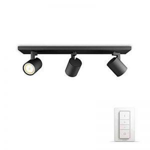 Philips Luminaire télécommandé Runner Spot Hue Noir + télécommande variateur de lumière - Fonctionne avec Alexa de la marque Philips Lighting image 0 produit