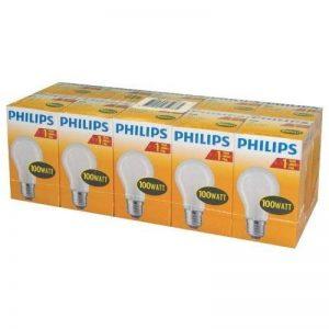 Philips Pack De 10 Ampoules À Incandescence Opaques/Mates Forme Classique - Culot E27 - 100w de la marque Philips image 0 produit