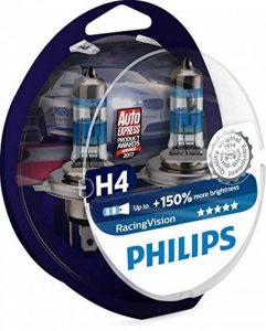 Philips RacingVision + 150% Ampoule Phare H4 12342RVS2, Bleu, Set de 2 de la marque Philips image 0 produit
