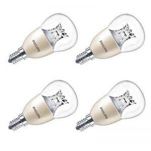 Philips warmglow LED 8W (60W) Dimmable E14Petit culot à vis Ampoule Lampe mini-globe, transparent–Lot de 4, E14, 8watts, Lot de 4 de la marque Philips image 0 produit