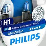 Philips WhiteVision 12258WHVSM Effet Xénon H1 pour Éclairage Avant, Set de 2 de la marque Philips image 2 produit