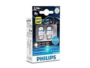 Philips X-tremeVision LED W5W T10 8000K 127998000KX2 W5W T10 W2.1x9.5d bleue de la marque Philips image 0 produit