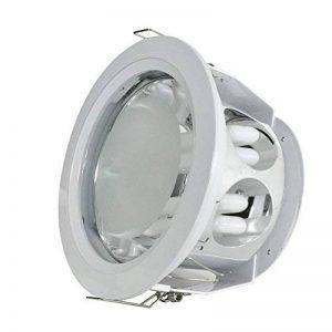Plafonnier en verre encastrable 2x 13W avec ballast électronique + Ampoule de la marque FutureLux Solutions image 0 produit