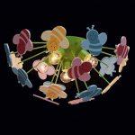 Plafonnier Enfant Original Design Moderne en Métal Vert et Acrylique Multicolore avec Abeilles pour Chambre d'Enfant Fille ou Garçon 5x40W E14 de la marque MW-Light image 3 produit