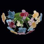 Plafonnier Enfant Original Design Moderne en Métal Vert et Acrylique Multicolore avec Abeilles pour Chambre d'Enfant Fille ou Garçon 5x40W E14 de la marque MW-Light image 4 produit