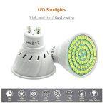 Pocketman 10X GU10 5W Ampoules LED Lampe Bulb 80 LED 3528 SMD LED Spot Ampoule Lampe 450LM Super Lumineux, Blanc Froid (6000K),AC 220V,120 °Angle de Faisceau de la marque POCKETMAN image 1 produit