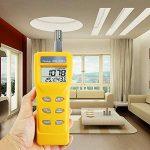 Portable Digital de la température humidité Intérieur 9999ppm Ndir Sensor Iaq moniteur de CO2 humide ampoule Température (WB) point de rosée (DP) testeur moniteur de CO2 pour l'intérieur de qualité de l'air (Iaq) Diagnostic de la marque TekcoPlus image 2 produit