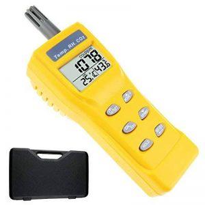 Portable Digital de la température humidité Intérieur 9999ppm Ndir Sensor Iaq moniteur de CO2 humide ampoule Température (WB) point de rosée (DP) testeur moniteur de CO2 pour l'intérieur de qualité de l'air (Iaq) Diagnostic de la marque TekcoPlus image 0 produit