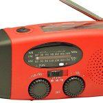 Portable Main Manivelle Dynamo USB Charge et Solaire Énergie AM FM WB Radio Voyage Solaire Puissance Radio AM / FM Réglage Radio avec Main Manivelle, 1000mAh Puissance Banque, Brillant Lampe de poche et USB Charge Prise, Multifonctionnel Radios pour Ménag image 1 produit