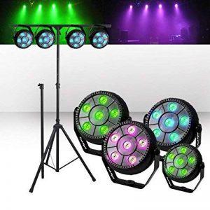 Portique et Pack 4 Jeux de Lumière FestiNight PARBALL 6 à LED RVB 6x1W Etrier fixation Mode auto/sound de la marque Festinight image 0 produit