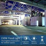 Projecteur led 150W blanc 6000K IP65 15000lm projecteur led exterieur AC220V-240V pour jardin, champ de la marque LEDMO image 2 produit