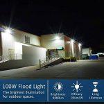 Projecteur Led exterieur 100W 6000K projecteur led blanc IP65 10000lm équivalent halogène 500W, lumières de sécurité, projecteur led 100w pour jardin de la marque LEDMO image 2 produit