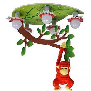 Protection des Yeux Cartoon Lumières LED Garçons Et Les Filles De Plafond Chambre d'enfants Chambre D'étude (avec Ampoule LED) (Couleur : Remote Control) de la marque Lustre JL image 0 produit