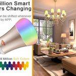 Proxima1Smart ampoule, WiFi ampoule LED E27Couleur lampe Fonctionne avec Amazon Alexa et Google Maison, 16millions de couleurs changeantes et minuterie, 7W–Ultra faible économie d'énergie (Classe A + +) de la marque Proxima1 image 2 produit
