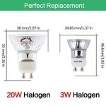 Pursnic Ampoule LED GU10 3W, blanc froid 6000K idéal pour remplacer le spot halogène GU10 Spot Led avec 2 ans de garantie, paquet de 6 unités de la marque Pursnic image 1 produit