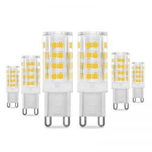 Pursnic G9 Led Ampoule Lampe, Blanc Chaud 400 lumens, 40W Ampoules Halogène Équivalent, AC 220-240V - Angle du faisceau 360°,Culot G9, Lot de 6 de la marque Pursnic image 0 produit