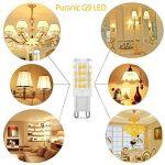 Pursnic G9 Led Ampoule Lampe, Blanc Chaud 400 lumens, 40W Ampoules Halogène Équivalent, AC 220-240V - Angle du faisceau 360°,Culot G9, Lot de 6 de la marque Pursnic image 3 produit